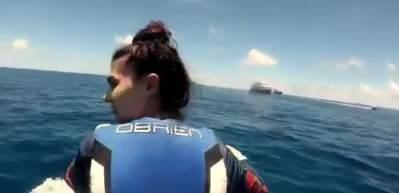 Burcu Özberk'in paylaştığı yazdan kalma videosu dikkat çekti!