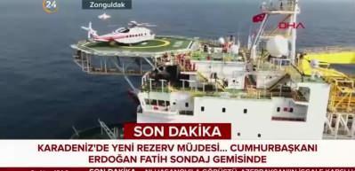 Cumhurbaşkanı Erdoğan Fatih Sondaj Gemisi'nde