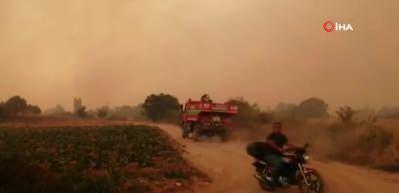 Çanakkale'de dev yangın