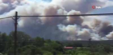 Çanakkale'de orman yangını! Alevlere söndürülmesi için havadan ve karadan müdahale ediliyor