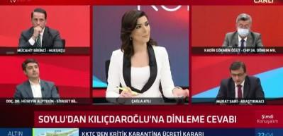Canlı yayında gergin anlar: Murat Sarı ve CHP'li Kadir Gökmen Öğüt programı terk etti