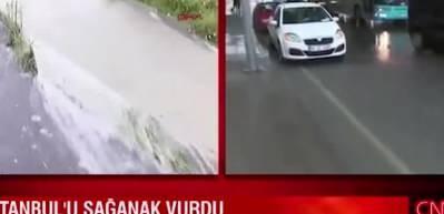 Canlı yayında öksürük krizine giren CNN Türk muhabiri, topu stüdyodakilere attı