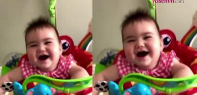 Ceyda Ateş'in kızı Talia'nın gülme anları beğeni rekoru kırdı!