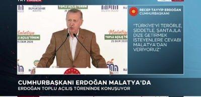 Cumhurbaşkanı Erdoğan: 1 milyar 600 milyon lirayı aşan kamu ve özel sektör yatırımı