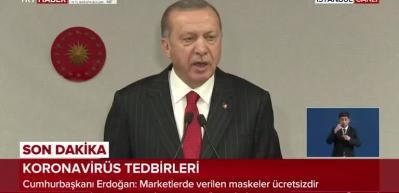 Cumhurbaşkanı Erdoğan: Atatürk Havalimanı ve Sancaktepe'de yapılacak iki hastane 45 günde yapılacak.