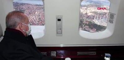 Cumhurbaşkanı Erdoğan Çamlıca'da TV kulelerinin kaldırılmasını helikopterle inceledi