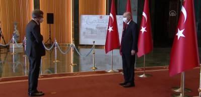 Cumhurbaşkanı Erdoğan, Cumhurbaşkanlığı Külliyesi'nde 29 Ekim Cumhuriyet Bayramı tebriklerini kabul etti