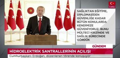 """Cumhurbaşkanı Erdoğan: """"Yenilenebilir enerji kurulu gücünde dünyada 13'üncü Avrupra'da 6'ncı sıradayız"""""""