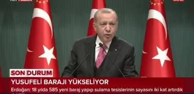 Cumhurbaşkanı Erdoğan: Yılda 1,5 milyar lira katkı sağlayacak