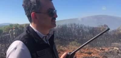 Cumhurbaşkanı Erdoğan'dan yangınla mücadele eden işçilere moral telefonu