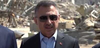 Cumhurbaşkanı Yardımcısı Oktay patlama alanında açıklama yaptı