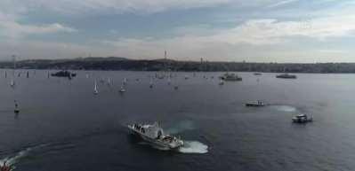 Cumhurbaşkanlığı Uluslararası Yat Yarışı İstanbul Boğazı'nda başladı