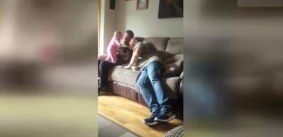 Dedenin aklını alan bebek şakası