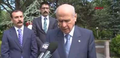 Devlet Bahçeli, Türkeş'in mezarını ziyaret etti