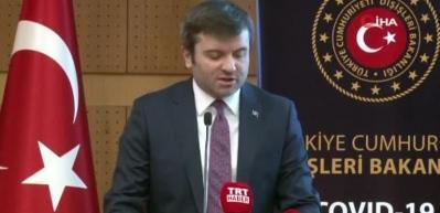 Dışişleri Bakan Yardımcısı Kıran'dan korona virüs açıklaması