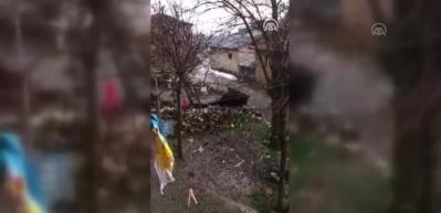 Doğanşehir'de yağmur ve dolu etkili oldu