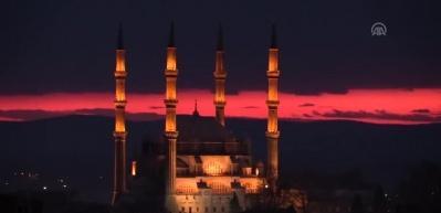Edirne'de günbatımı adeta mest etti