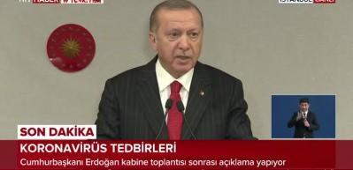 Erdoğan: Parayla maske satışı kesinlikle yasaktır