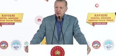 Erdoğan: Ülkemizi afetlere dayanıksız yapıların tamamından kurtaracağız
