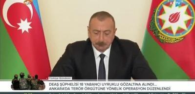 Ermenistan'ın ateşkesi bozmasının ardından Aliyev'den açıklama