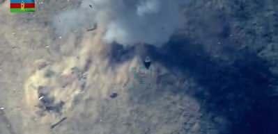 Ermenistan'ın saldırısı sonrası  Azerbaycan böyle bombaladı!