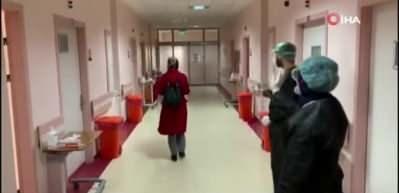 Erzurum'da tedavisi tamamlanan 20 hasta alkışlarla taburcu edildi