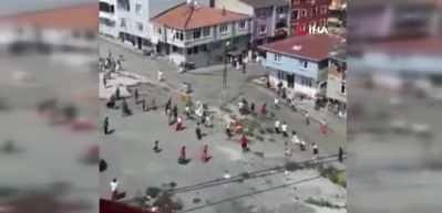 Esenler'de mahalle kavgasında ortalık savaş alanına döndü!