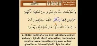 Fetih suresi Arapça okunuşu! Fetih suresi meali