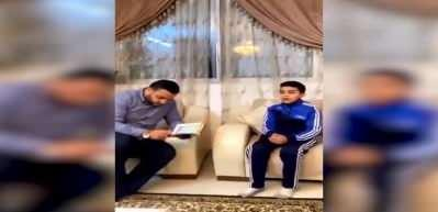 Filistinli küçük çocuk hafız oluşunu babasıyla böyle kutladı