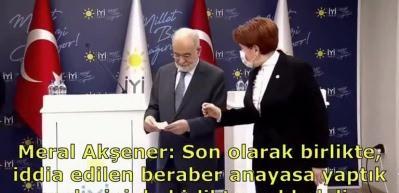 Saadet Partisi'nden İYİ Parti'ye ters köşe! Akşener, Karamollaoğlu'nun sözünü kesti