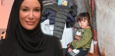 Gamze Zeynep Özçelik'ten sel vurmuş 50 bin mülteciye yardım