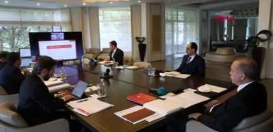 Cumhurbaşkanı Erdoğan video konferansla kabine toplantısına katıldı