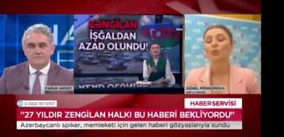 Günel Mövsümova 'O an'ın hikayesini Ülke TV'de anlattı