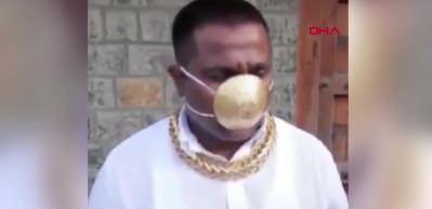 Virüsten korunmak için 26 bin liralık maske yaptırdı? Altın maske virüsten koruyor mu?