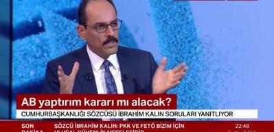 İbrahim Kalın: Türkiye'ye yaptırım diliyle konuşursanız siz kaybedersiniz