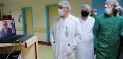 İlber Ortaylı, koronavirüsle mücadele eden sağlık çalışanlarıyla konuştu
