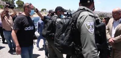 İsrail polisi Mescid-i Aksa İmam Hatibi Şeyh Sabri'ye destek gösterisini engelledi