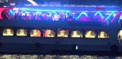 İstanbul akılalmaz eğlence! Görüntüler çileden çıkardı...