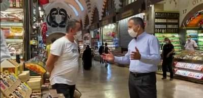 İstanbul Valisi Yerlikaya, Koronavirüs tedbirleri denetimine katıldı