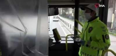 İstanbul'da otobüs şoföründen ilginç 'korona virüs' önlemi