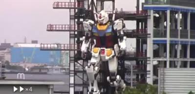 Japon yapımı 18 metre yüksekliğinde, 25 ton ağırlığındaki Gundam robotu hayata adım attı