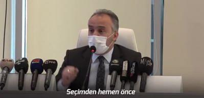 Bursa Belediye Başkanı Alinur Aktaş'tan iddialara sert yanıt