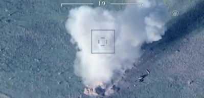 Azerbaycan ordusu böyle vurdu! Müthiş görüntüler