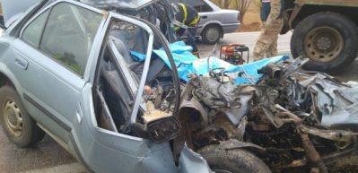 Kahramanmaraş'ta kaza: Kamyonla çarpışan araç hurdaya döndü