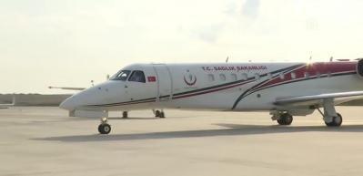 Kırgızistan'da yaşayan ve koronavirüse yakalanan 4 vatandaş, ambulans uçakla Türkiye'ye getirildi