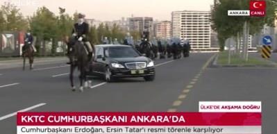 KKTC Cumhurbaşkanı Ersin Tatar Beştepe'de