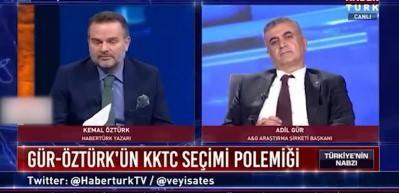 KKTC seçimleri üzerinden polemik yaşayan Adil Gür ve Kemal Öztürk canlı yayında fena kapıştı