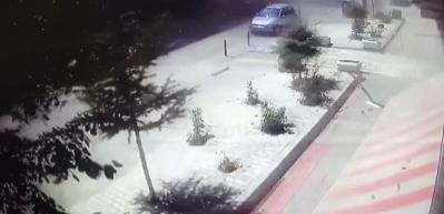 Konya'da gerçekleşen patlama anı kamerada!