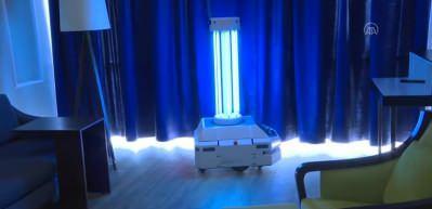 Kovid-19 ile mücadelede yerli dezenfeksiyon robotu iş başında