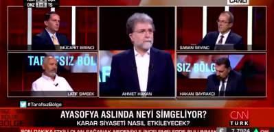 Halk TV Eski Genel Müdürü Sevinç Ayasofya'yı eleştirirken alay konusu oldu!